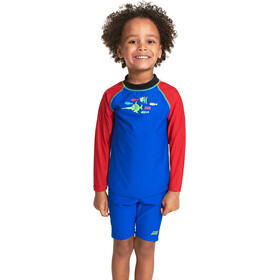 Zoggs Sea Saw Sun Top manga larga con cremallera Niños, blue